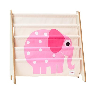3 Sprouts Book Rack - Elephant Pink 806397