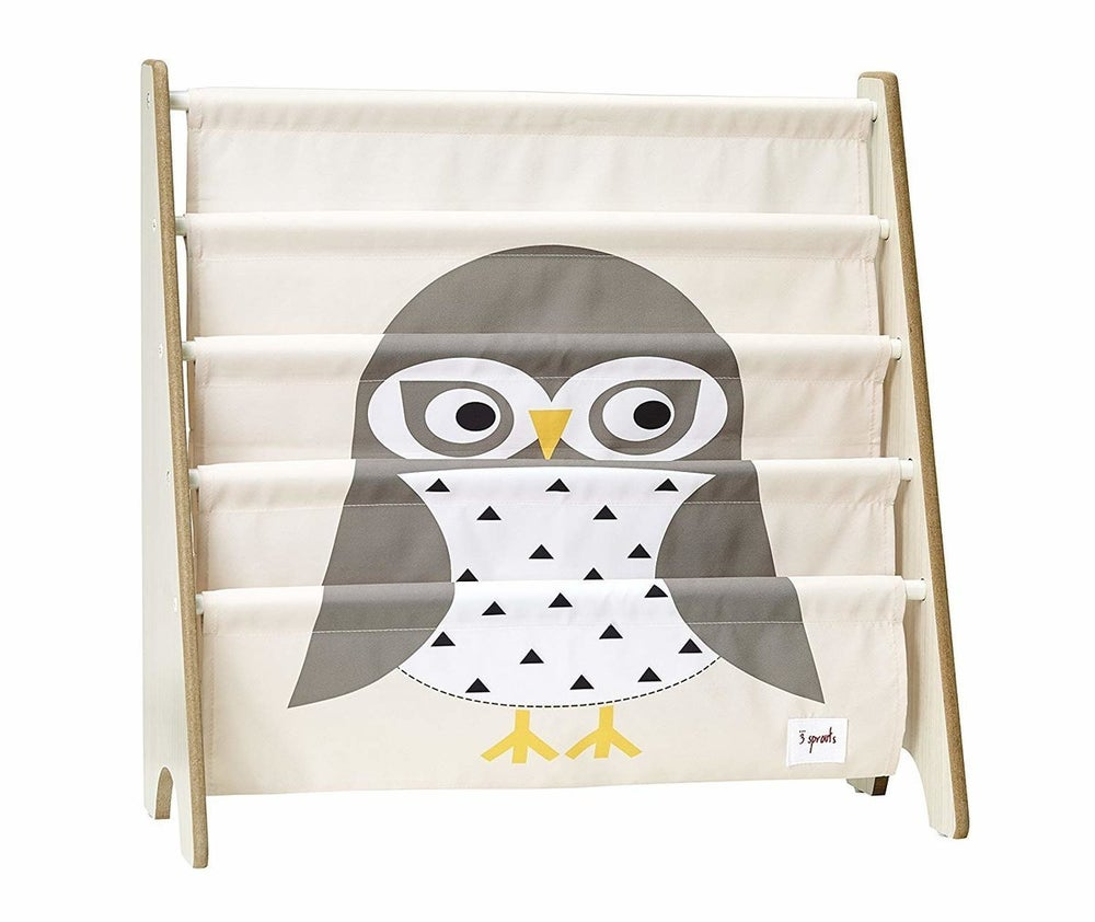 3 Sprouts Book Rack - Owl Grey 806399