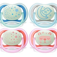 Philips Avent Ultra Air Soother Night 2pk - 6 -18mth 807294