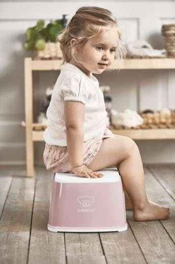 Baby Bjorn Step Stool -  Powder Pink/ White 807822
