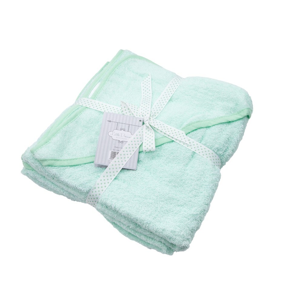 Baby Bow Little Dreams Hooded Baby Towel 2PK Mint  805038