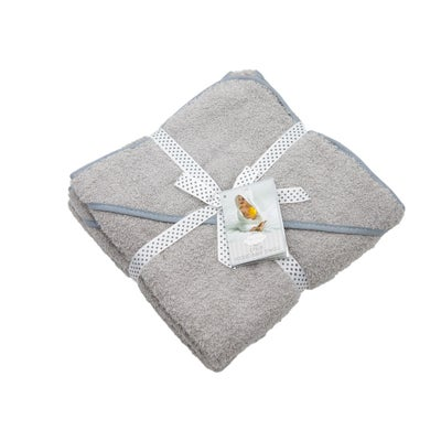 Baby Bow Little Dreams Hooded Baby Towel 2PK Grey 805037
