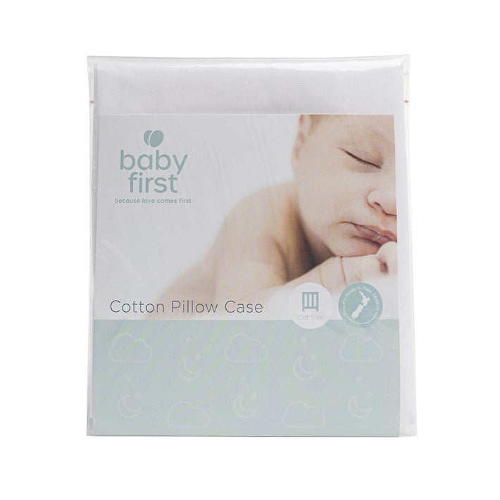 Baby First White Cot Pillowcase 93045