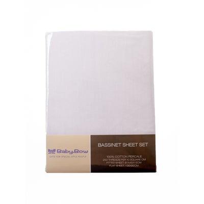 Baby Bow Bassinet Sheet Set White 802681