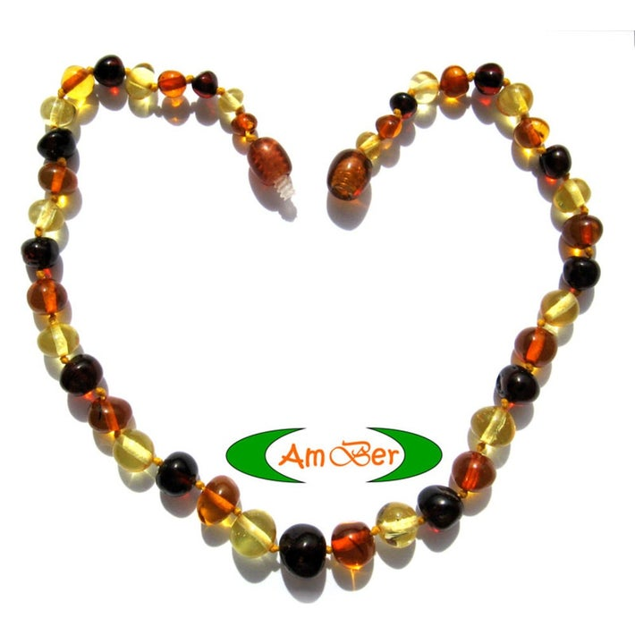 Baltic Amber Teething Necklace - Mix 717018