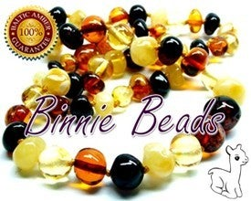 Baltic Amber Teething Necklace - Multi 717019