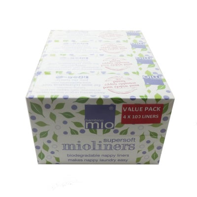 Bambino Mio Disposable Liners 100pk x4 Value pack 806157