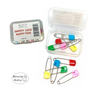 Binnie Baby Safety Lock Nappy Pins 10 pack 808201