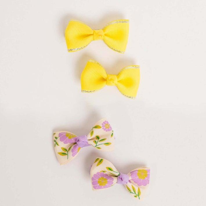 dot2tot Bow Hair Clip 4Pk 9014230001