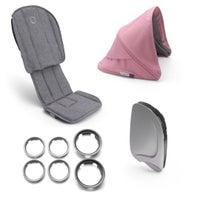 bugaboo Ant Style Set - Grey/Pink Melange 806807