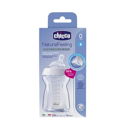 Chicco NaturalFeeling Medium Glass Bottle 8080040001
