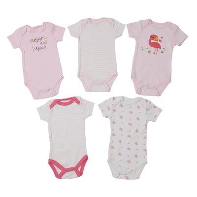 dot2tot 5Pce Short Sleeve Bodysuits 9019860001