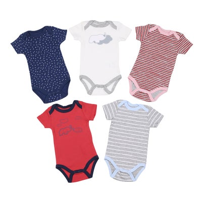 dot2tot 5Pce Short Sleeve Bodysuits 9019860005