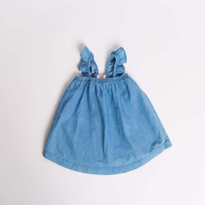 dot2tot Denim Ruffle Dress 9016660002