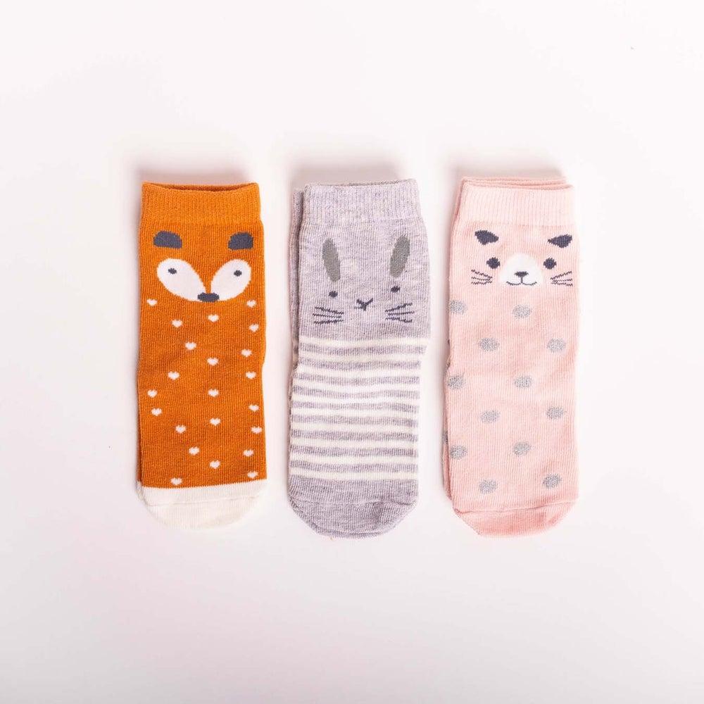 dot2tot Forest Animal 3Pk Socks 9018870001