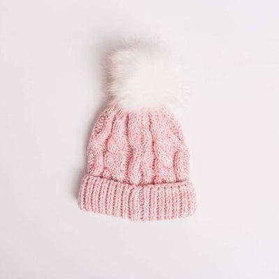 dot2tot Fur Cable Hat 9015310001
