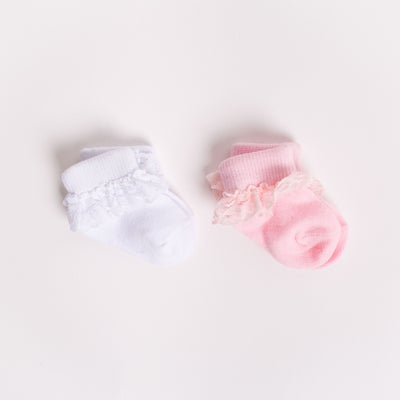 dot2tot Lace Frill 2 Pack Socks 9013220001