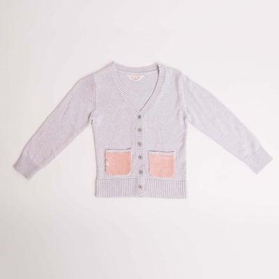 dot2tot Sequin Pocket Cardigan 9014940001