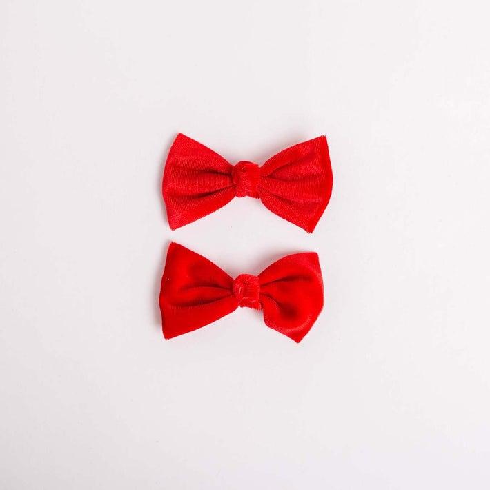 dot2tot Velvet Bow Hair Clip 2Pk 9016100001