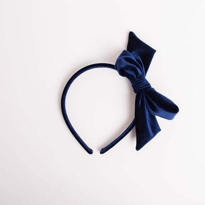 dot2tot Velvet Bow Headband 9016120001