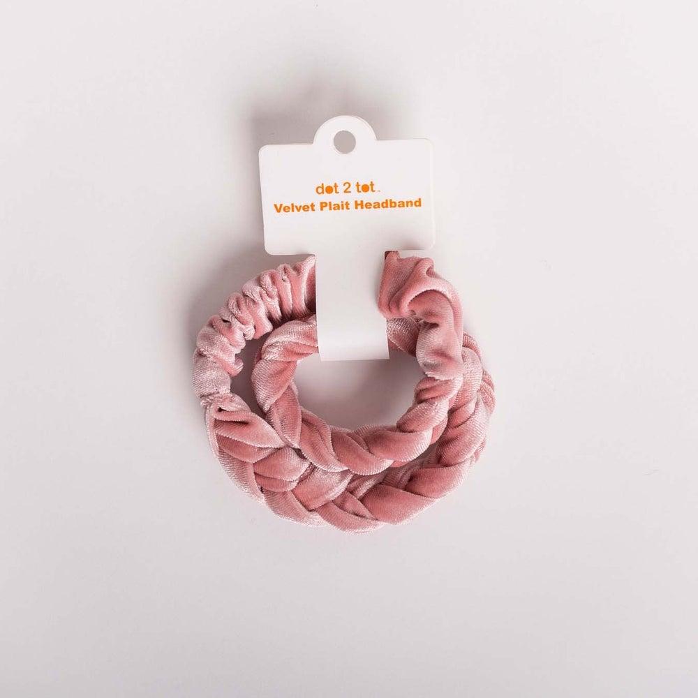 dot2tot Velvet Plait Headband 9016110001