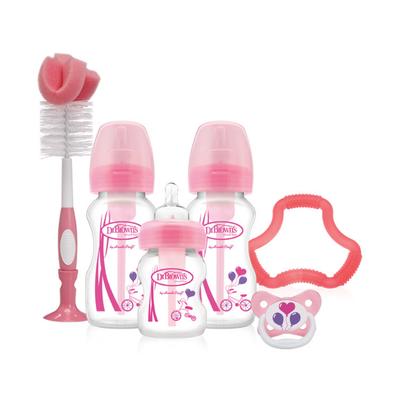 Dr Brown Options Wide Neck Gift Set - Pink 805872