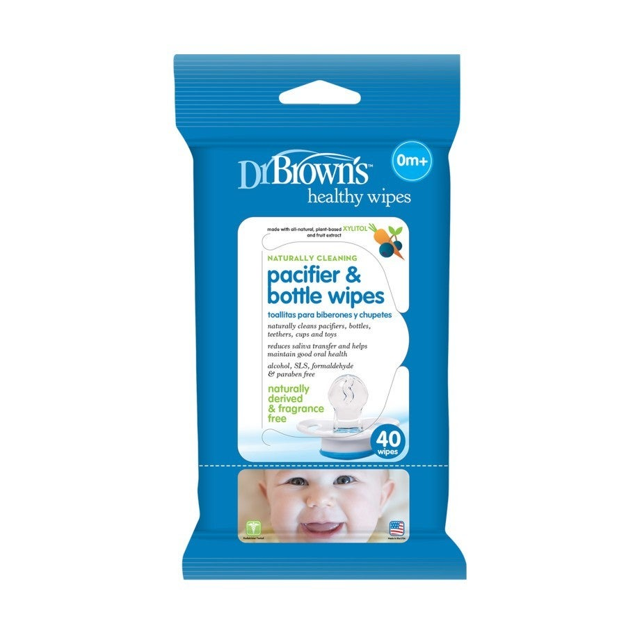 Dr Browns Pacifier and Bottle Wipes 40Pk 807902