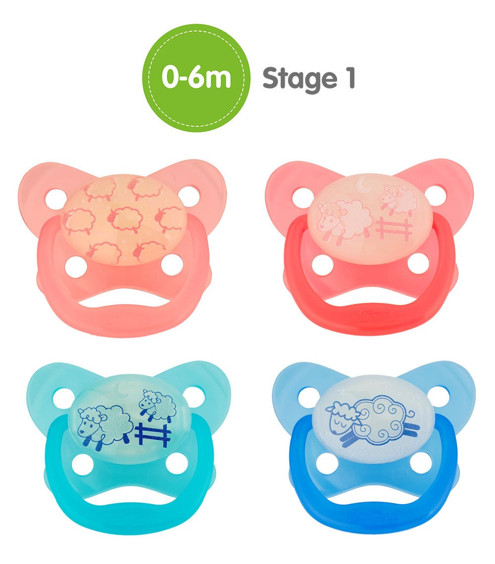 Dr Browns Prevent Glow In The Dark Pacifier Stage1 2pk 805875