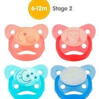 Dr Browns Prevent Glow In The Dark Pacifier Stage2 2pk 805876