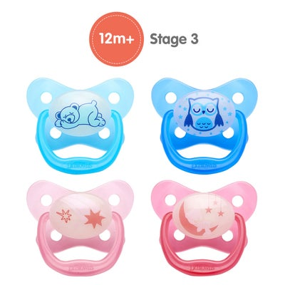 Dr Browns Prevent Glow In The Dark Pacifier Stage3 2pk 805877