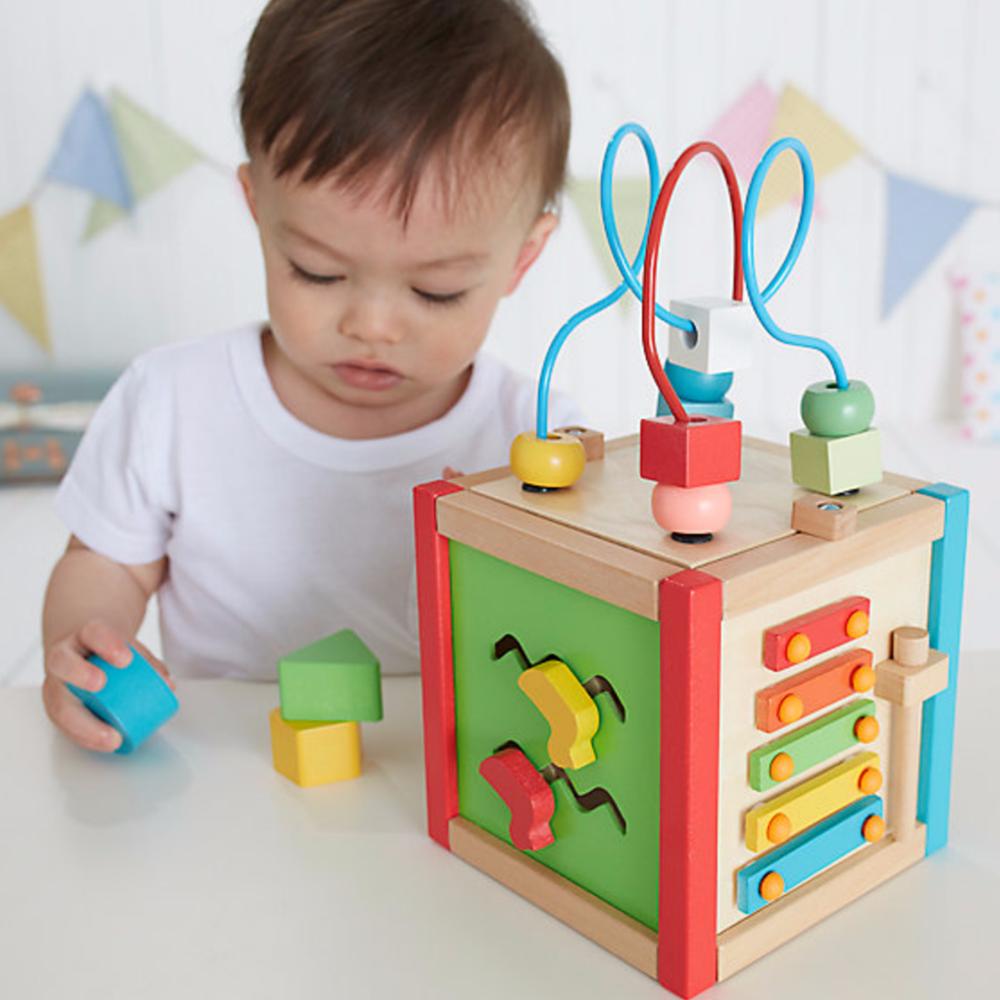 ELC mini Wooden Activity Cube 804457
