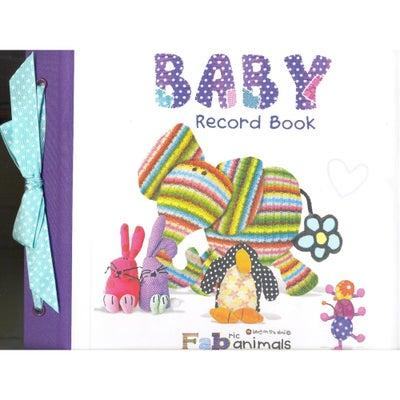 Fabric Animals Baby Record Book  727547
