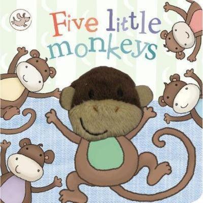 Five Little Monkeys Finger Puppet Book 801670