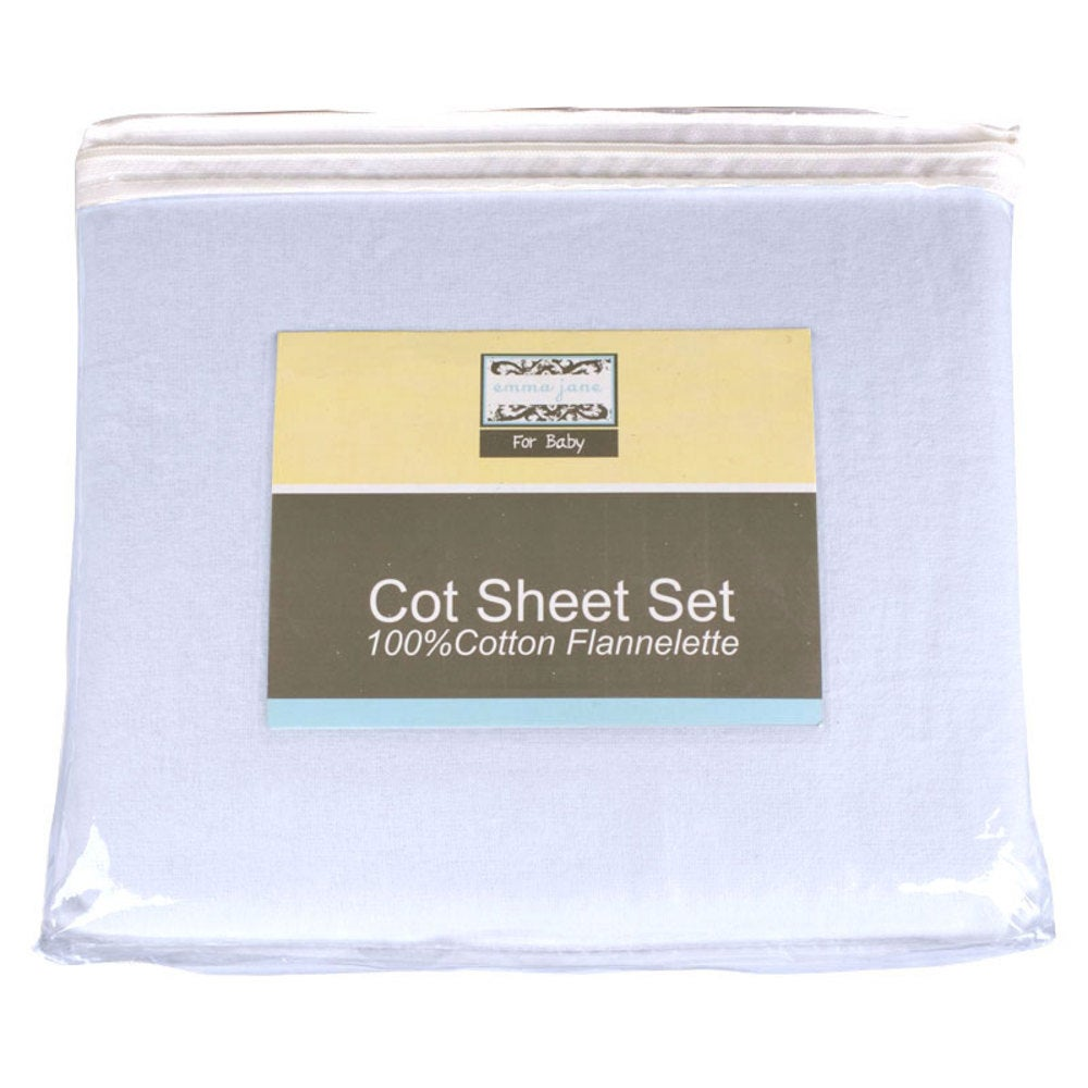 Baby Bow Flannelette Sheet Set - Cot 722980001