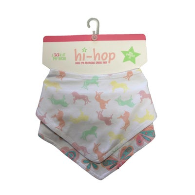 Hi-Hop Unicorn and Butterflies Bib Set 8080980001