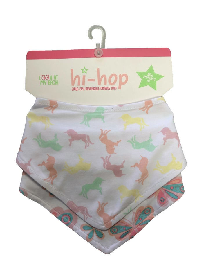 Hi-Hop Unicorn and Butterflies Bib Set 8080980001