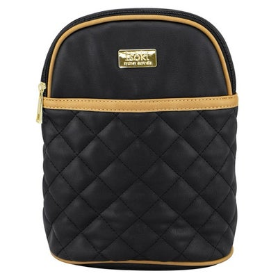 Isoki Ayr Insulated Bottle Bag- Quilted Black 806421