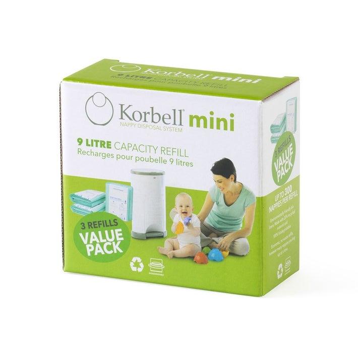 Korbell Mini Nappy Bin Refill - 3 pack 805683
