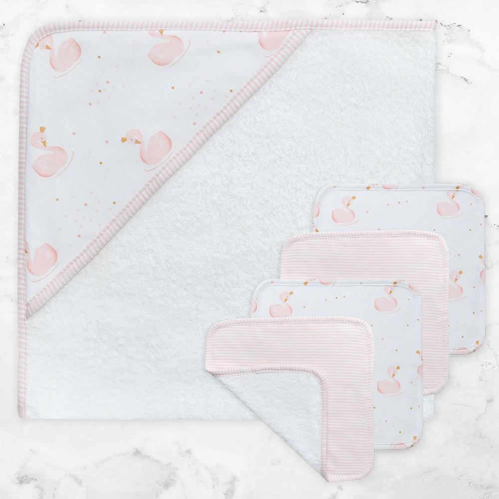 Living Textiles 5pce Bath Gift Set - Swan Princess 806558
