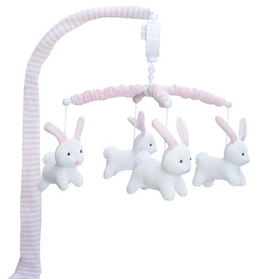 Living Textiles Bunny Musical Mobile - White Bunny 807777