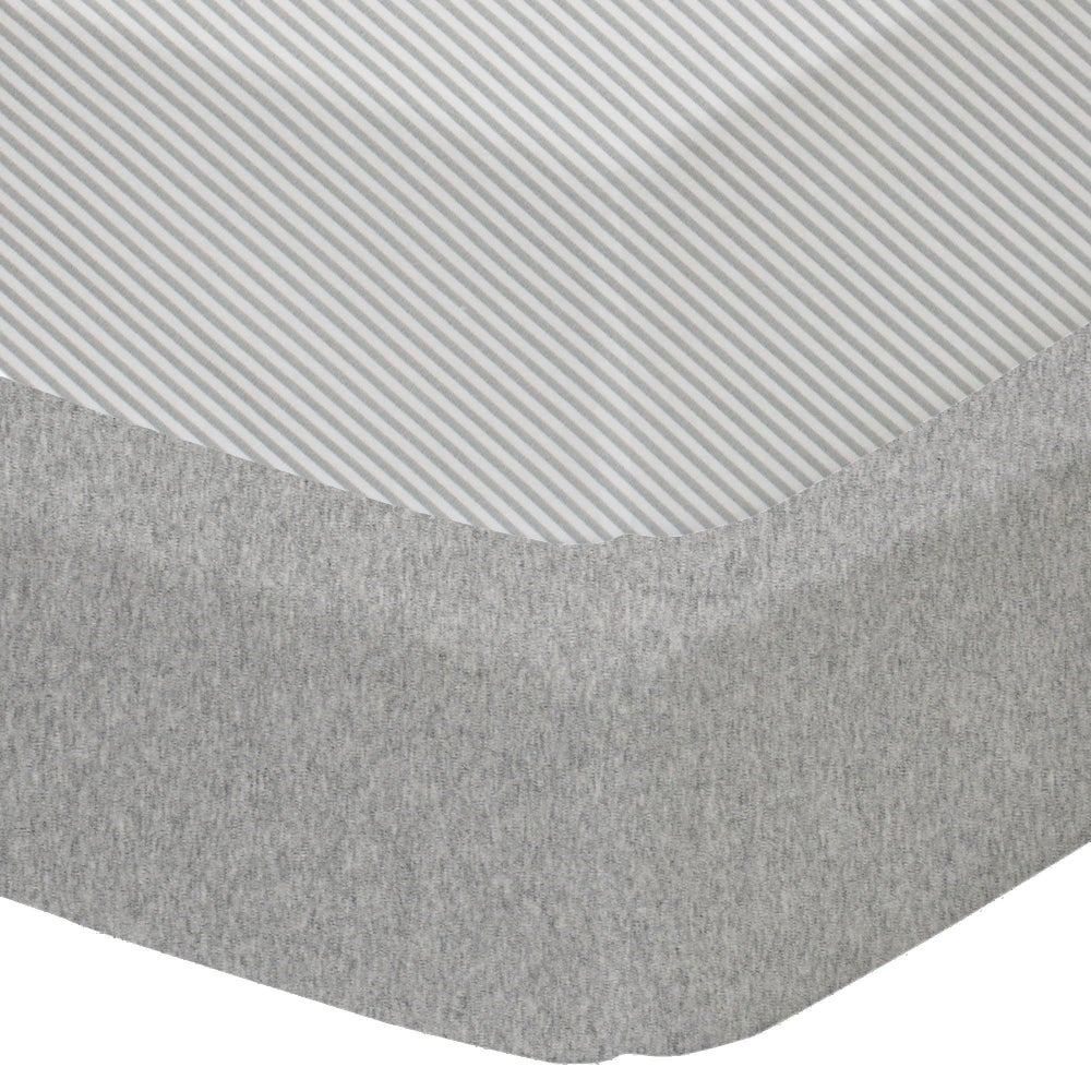 Living Textiles Cot Fitted Sheet Jersey 2 Pack - Grey 805671