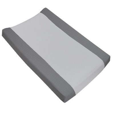 Living Textiles  Jersey Change Pad Cover - Grey Stripe/Towelling 805127