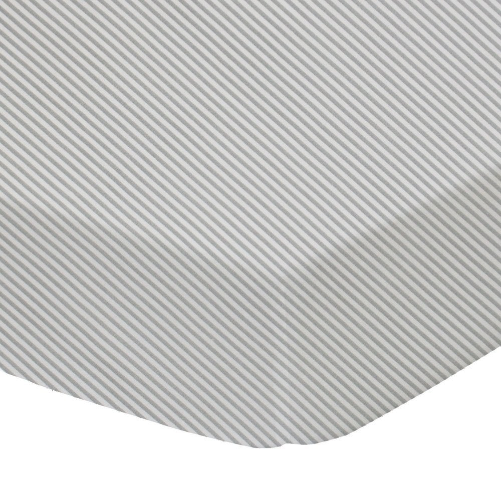 Living Textiles Jersey Cot Fitted Sheet - Grey Stripe 805124
