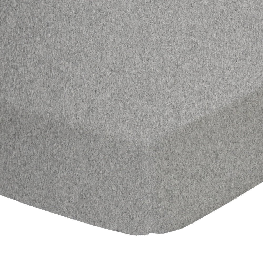 Living Textiles Jersey Cot Fitted Sheet - Grey Melange 805123