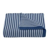 Living Textiles Knitted Stripe Blanket - Navy/White 807180