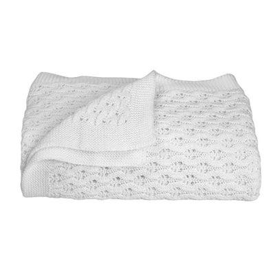 Living Textiles Baby Lattice Blanket - White 806578