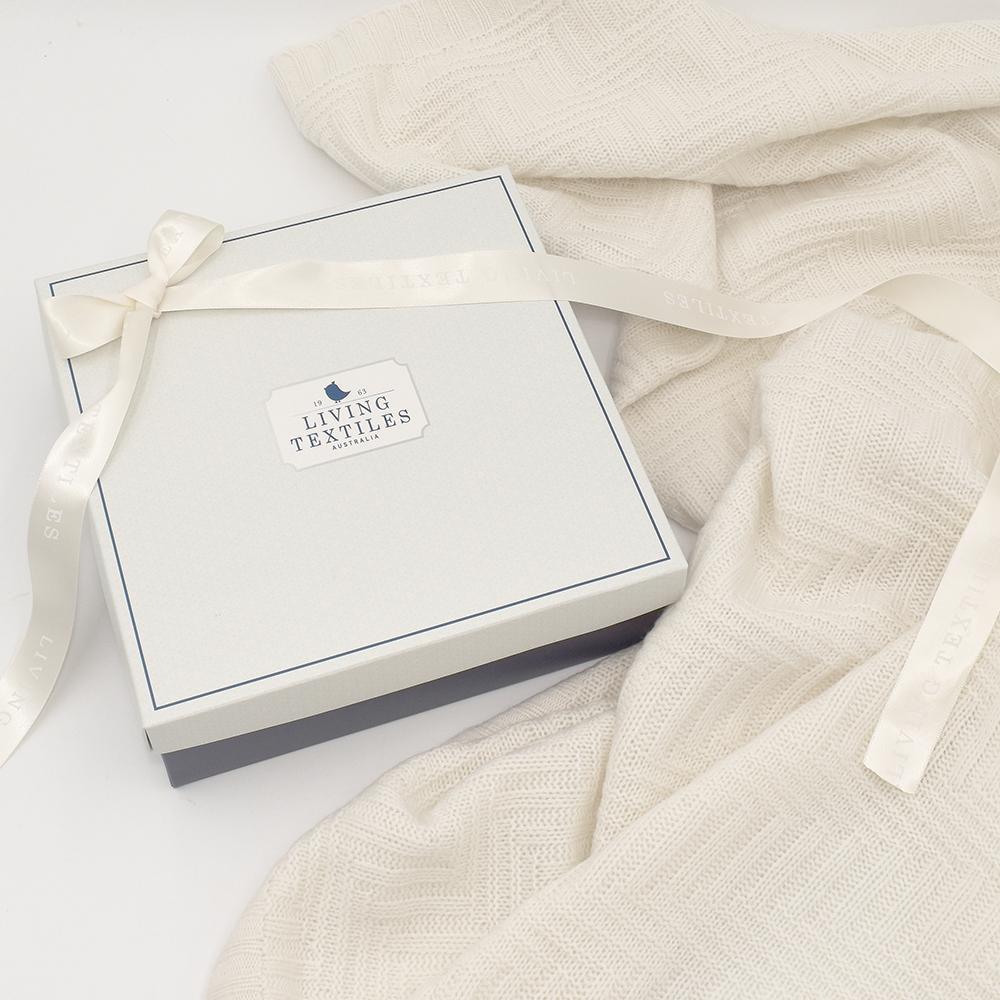 Living Textiles Merino Wool Pram Blanket - Cream 807658