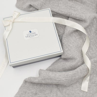 Living Textiles Merino Wool Pram Blanket - Grey 807657
