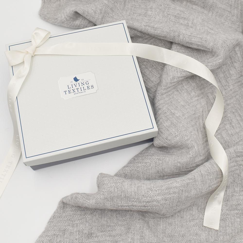 Living Textiles Merino Wool Cot Blanket - Grey 807660