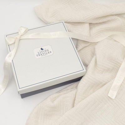 Living Textiles Merino Wool Cot Blanket - Cream 807659